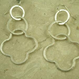 Three Tier Silver Plated Hoop EarringMixed Bag-0