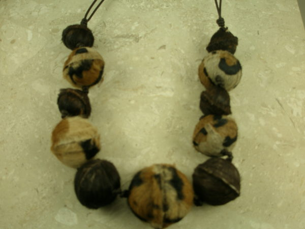 African Fur And Leather Adjustable NecklaceTarzan-0