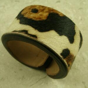 Handcrafted Fur/Leather Wide Cuff BraceletMe Jane-0