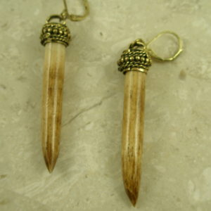 "Long ""Horn"" Fashion EarringDagger Tooth-0"