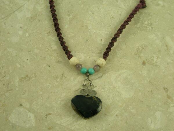 Lapis Heart Macrame NecklaceThe Purple Heart-0
