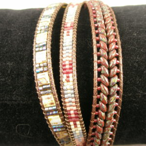 Handcrafted Unique Three Strand Beaded BraceletBraided-0