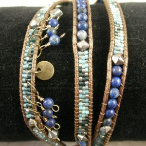 Three Strand Unique Beaded BraceletDance-0