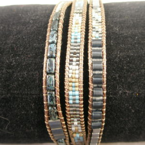 Fair Trade Crafted Beaded BraceletSteel-0