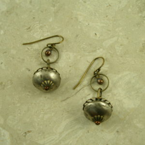 Handcrafted Original Oxidized EarringLittle Bell-0