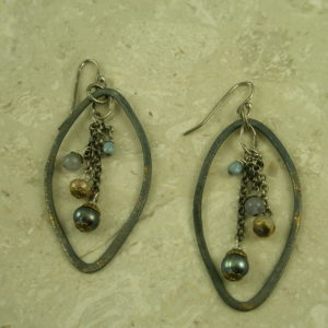 Eclectic Original Oxidized EarringsInside Out-0