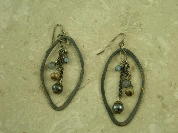 Eclectic Original Oxidized EarringsInside Out-0