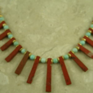 Handcrafted Coral Spike NecklaceBeautiful Warrior-0