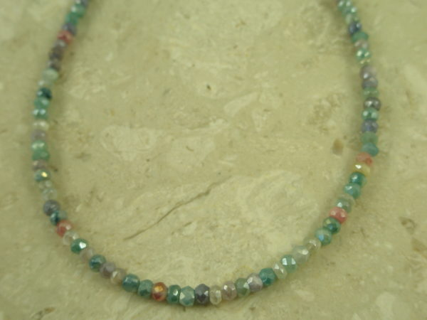 Silverite Stone Faceted NecklaceAzur-0