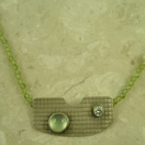 One Of A Kind Peridot/Sterling Pendant NecklaceAugust Green-0