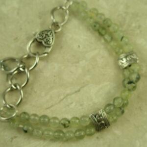 Prehnite Stone Link BraceletHeart You-0
