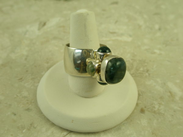 Lilly Barrack Sterling Stone Adjustable Eclectic RingMossy-0
