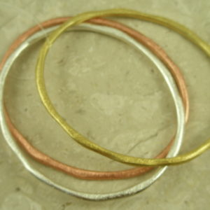 Tri-Colored Fashion Bangle BraceletsUno Dos Tres-0