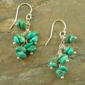 Mini Turquoise Dangle EarringsBabies-0