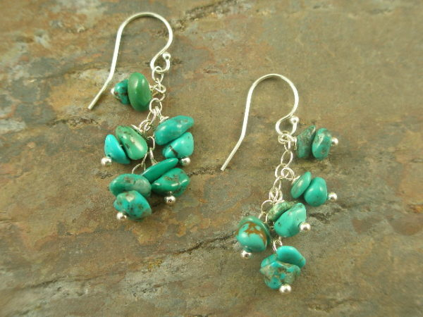 Mini Turquoise Dangle EarringsBabies-0