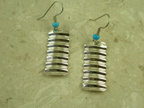 Contemporary Native American Crafted Sterling Silver EarringsStairstep-0