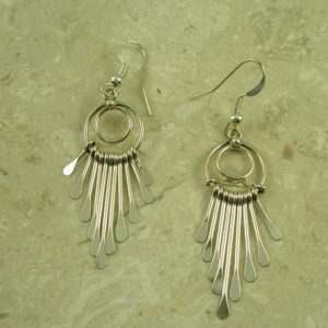 Native American Sterling Silver Dangle EarringsLittle Drop-0