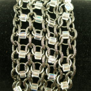 Gunmetal Stainless Steel Chain Mail BraceletIce Ice Baby-0