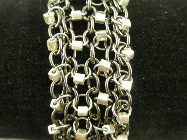 Stainless Steel Gunmetal BraceletCity Girl-0