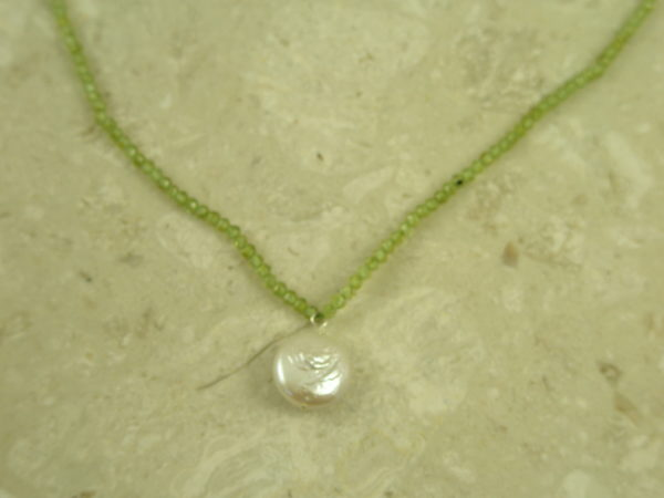 Semi Precious/Pearl Choker NecklaceGreen Baby-0
