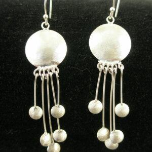 Sterling Silver Artisan Original EarringsWindchime-0