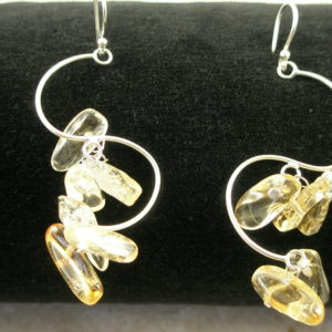 Sterling/Citrine Charm Dangle EarringsNuggets-0
