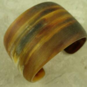 Matte Finish Wide Horn Cuff BraceletYum!-0