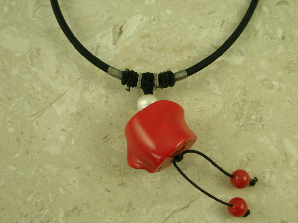 Chunky Coral Drop NecklaceNugget-0
