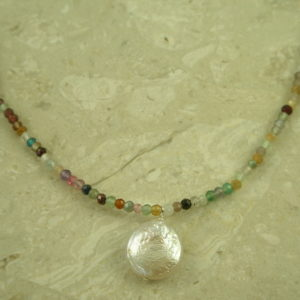 Mixed Semi Precious Mini Choker NecklaceMedley -0