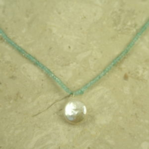 Blue Topaz Mini Choker Necklace Baby Blue-0