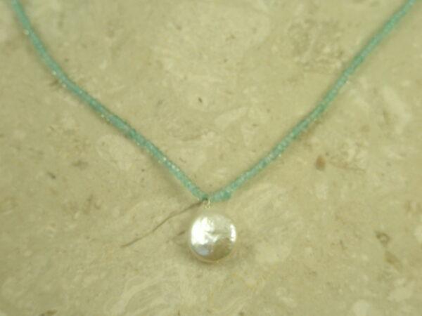 Blue Topaz Mini Choker Necklace Baby Blue-0