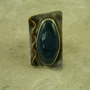 One Of A Kind Sterling/Clay Statement RingNo Lapis?-0