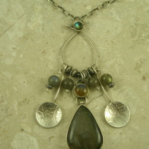 One Of A Kind Sterling/Stone Charm NecklaceI'm Charmed-0