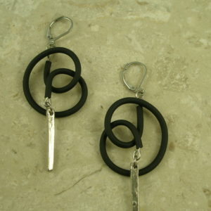 Mixed Media Contemporary EarringsRoped-0