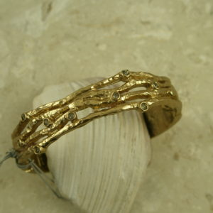 Gold Plated Swarovski Crystal Magnetic Bangle BraceletTwigs-0