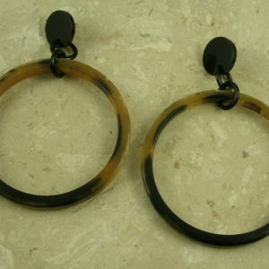 Large Sized Horn Hoop Statement EarringsSuper Size Me-0