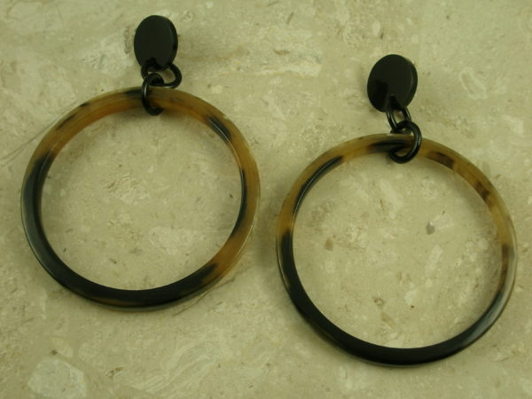 Large Sized Horn Hoop Statement EarringsSuper Size Me-0