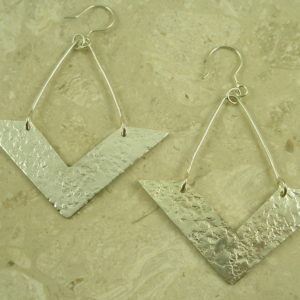 Handcrafted Contemporary Statement EarringDown Please-0