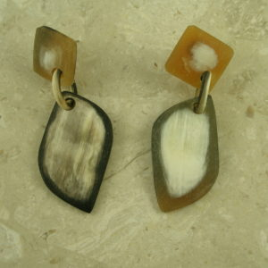 Matte Finish Handcrafted Horn Drop EarringNot Twins-0
