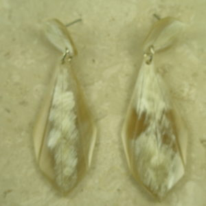 Crafted Horn Statement Drop EarringSeashell-0