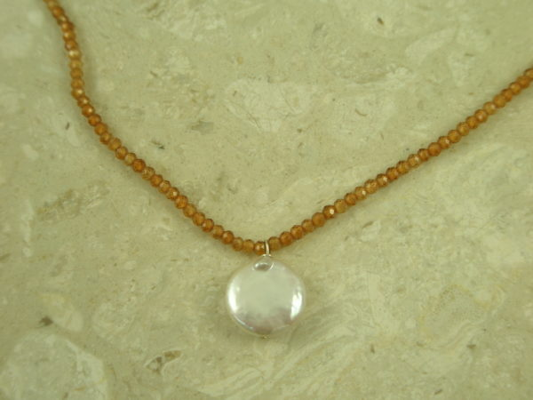 Sunstone Mini Choker NecklaceHere Comes The Sun-0