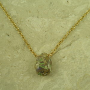 Gorgeous Teardrop Natural Opal Pendant NecklaceOpal For Real-0