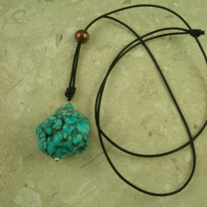 Leather/Turquoise 3 Way Necklace3 Way-0