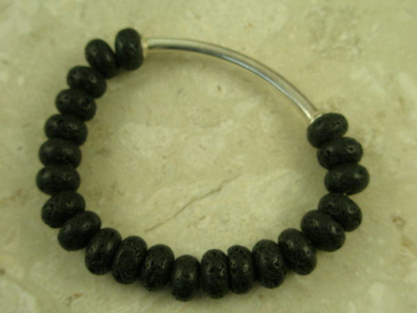 Lave Rock Stretch BraceletCoal-0