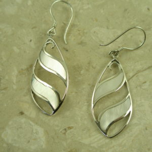 Sterling Silver Mother Of Pearl EarringsIt's A Breeze-0