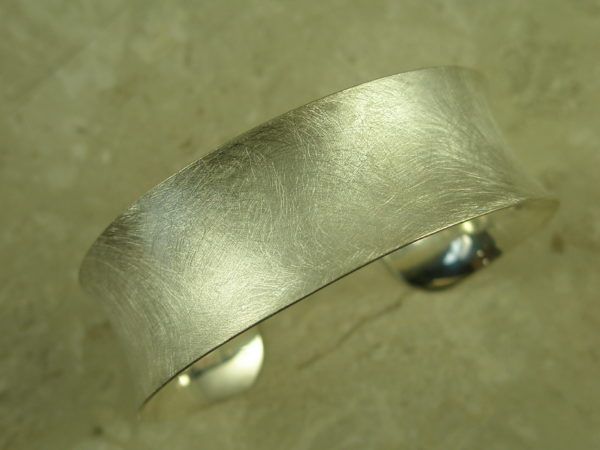 Brushed Finish Sterling Silver Cuff BraceletPresto-0